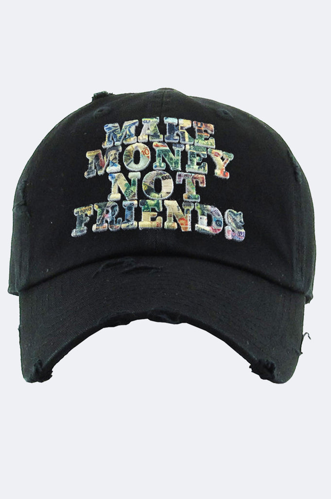 Aao Fashion Acc Dad Hat Make Money Not Friends