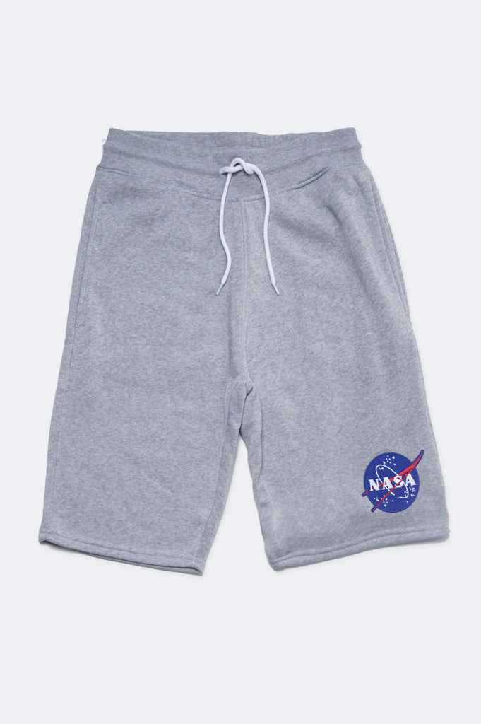 Southpole X Collaboration Men Nasa Chenillel Patch Fleece Shorts