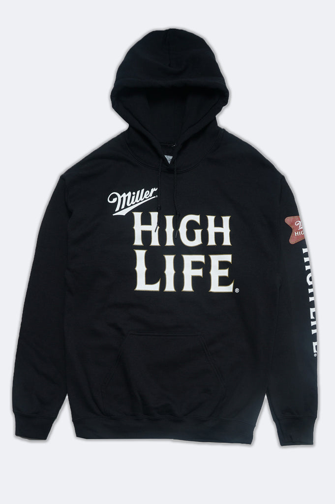 Aao Fashion Men Miller High Life With Sleeve Print Hoodie