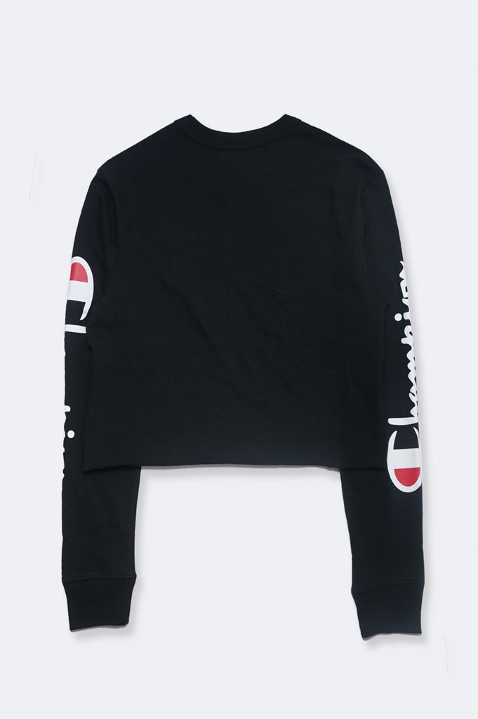 Champion Women Ls Boyfriend Tee Cropped