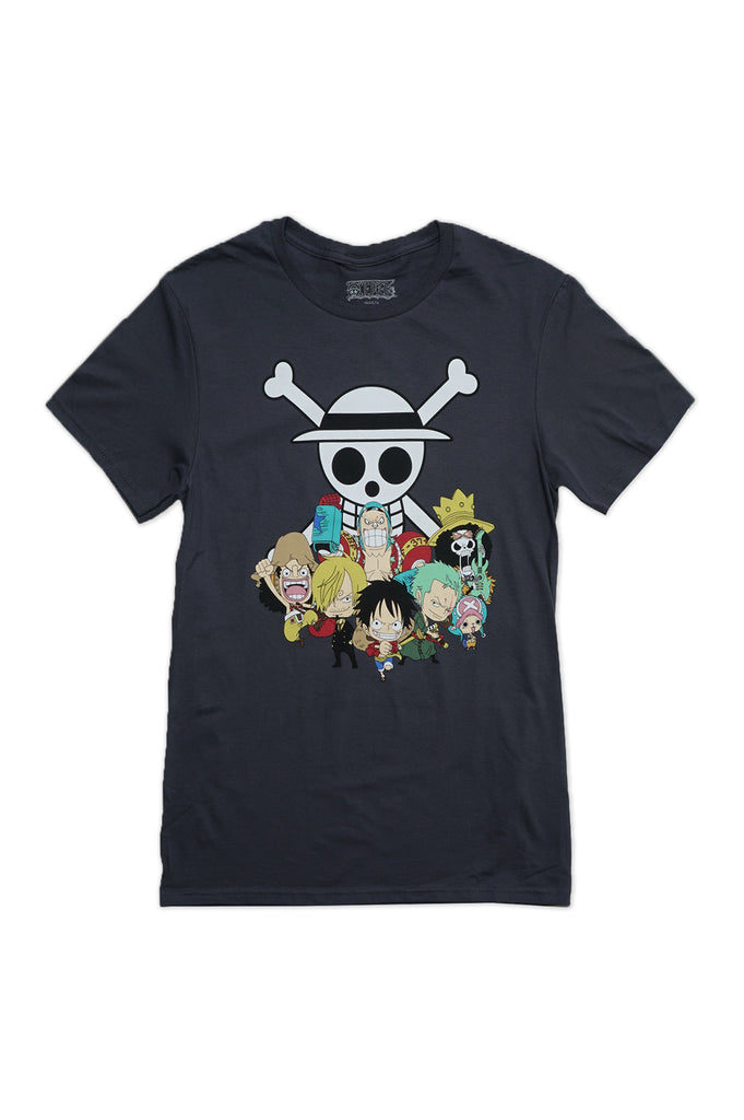 Aao Fashion Men One Piece Group With Skull Graphic Tee