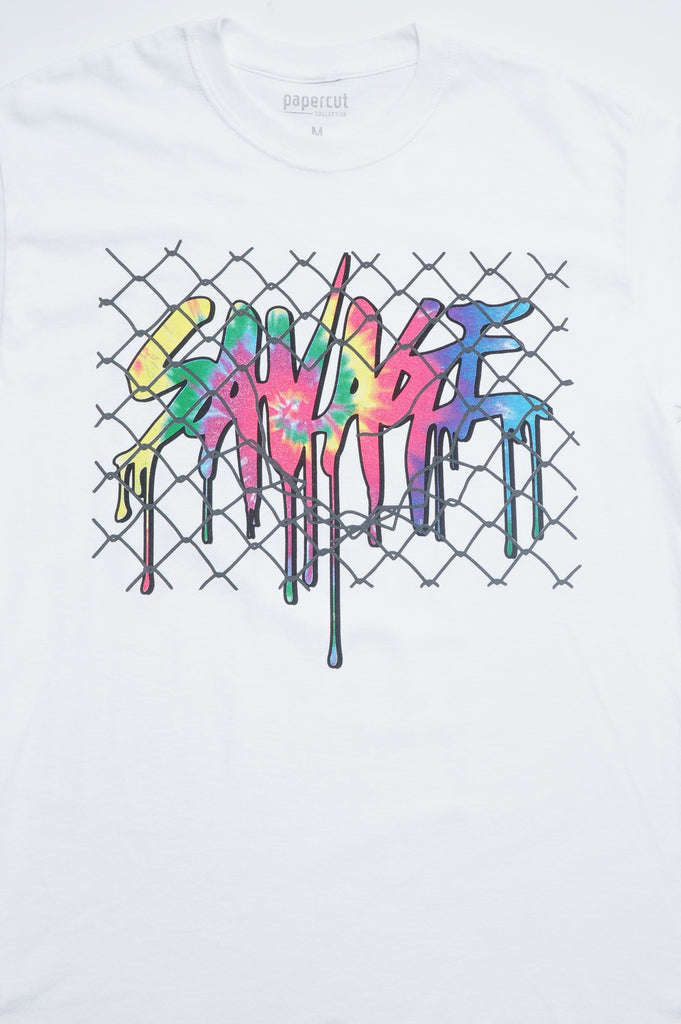 Aao Fashion Men Verbiage Savage Wire Graphic Tee