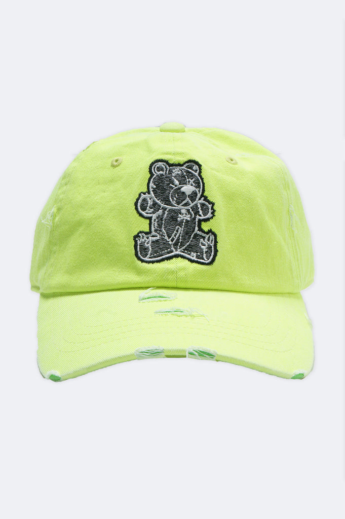 Aao Fashion Acc Black Bear Dad Hat