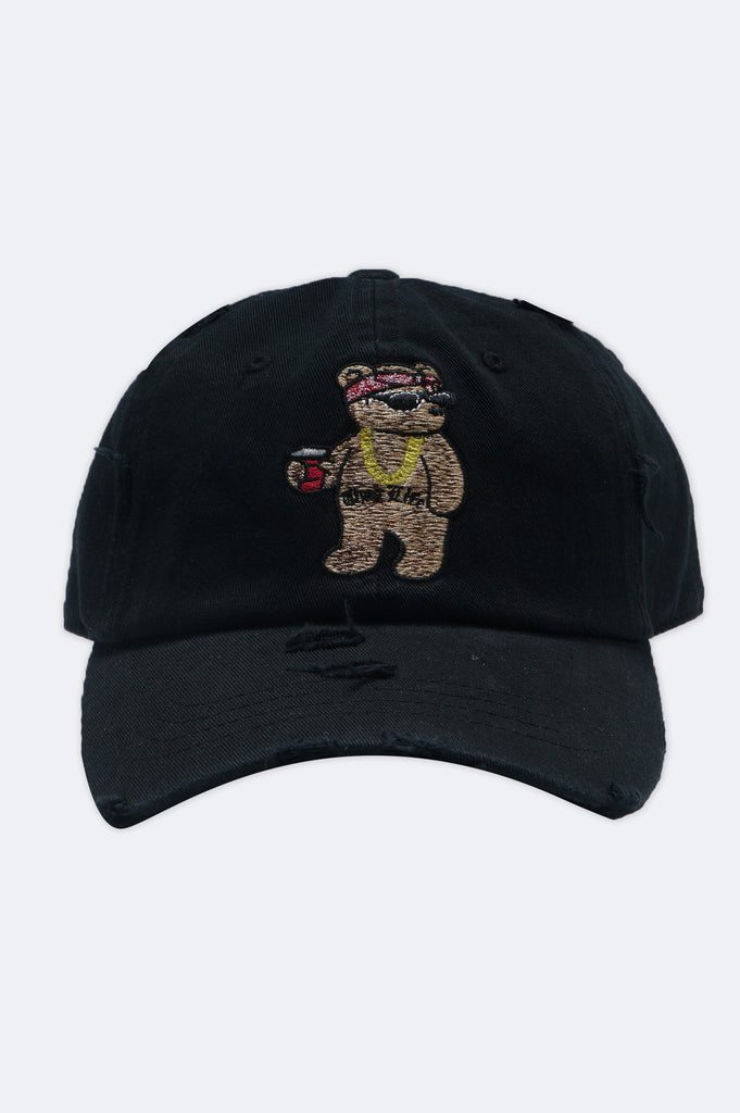 Aao Fashion Acc Thug Life Bear Dad Hat