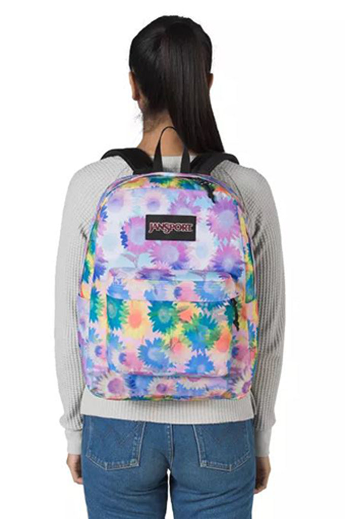 Jansport Acc Superbreak Plus Backpack In Sunflower Field