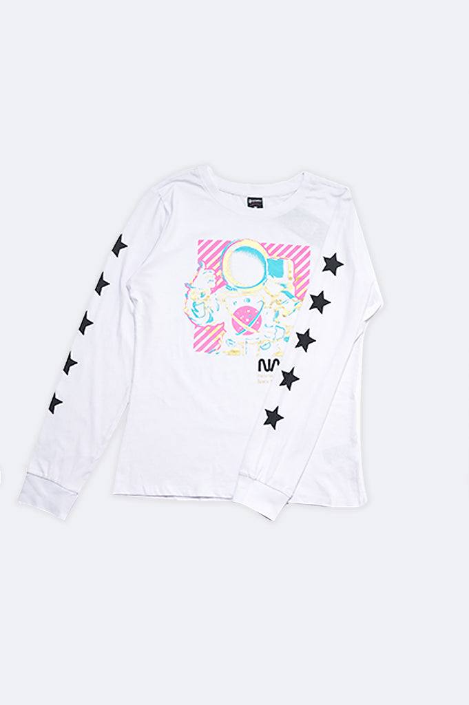 Southpole Women Long Sleeve Nasa Graphic Tee