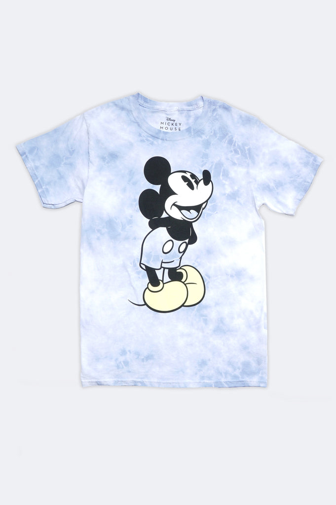 Aao Fashion Women Mickey Mouse Smile Tie Dye Character Graphic Tee