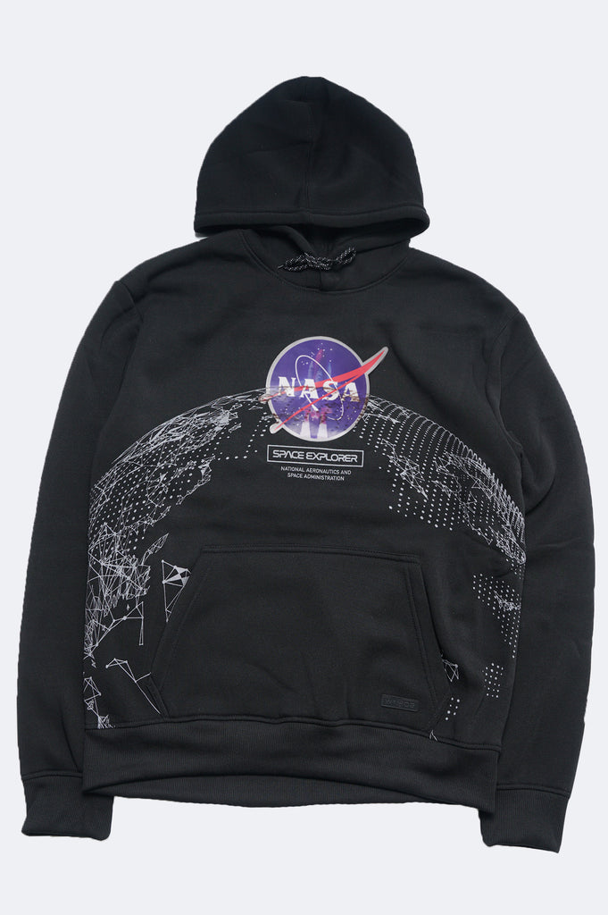 Aao Fashion Men Nasa Holographic Pullover Hoodie