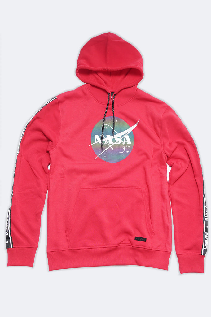 Aao Fashion Men Nasa Reflective Fleece Pullover Hoodie