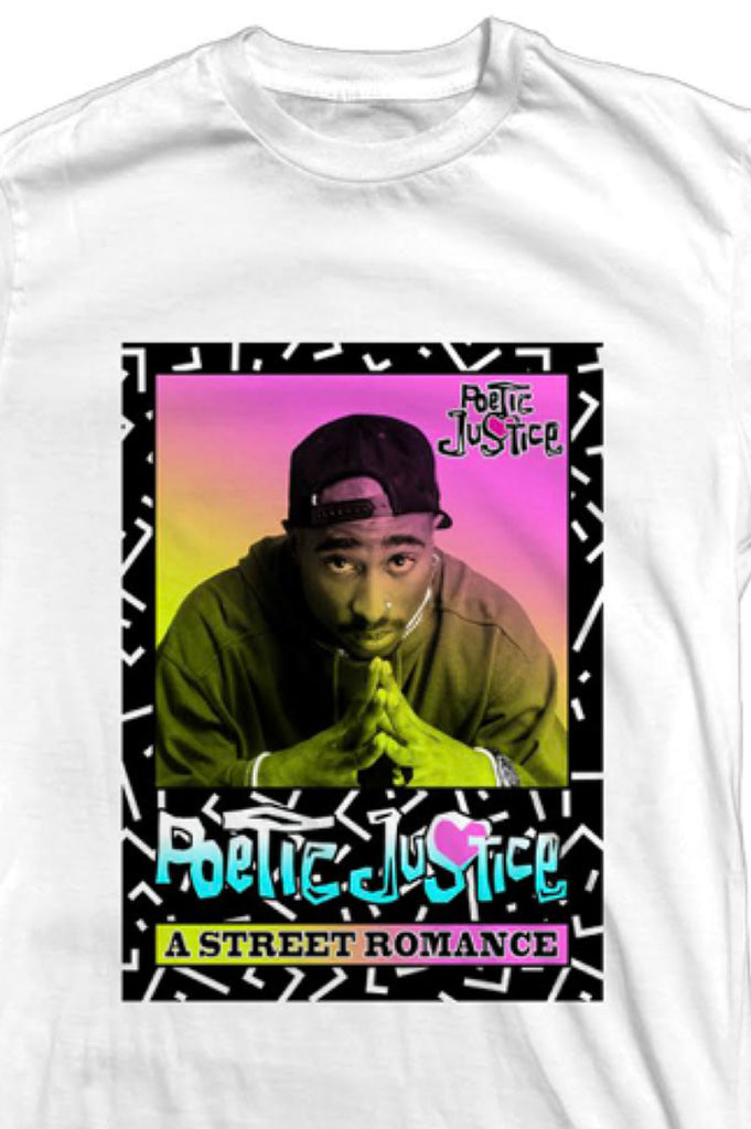 Aao Fashion Men Heritage Poetic Justice Tupac Street Romance Graphic Tee