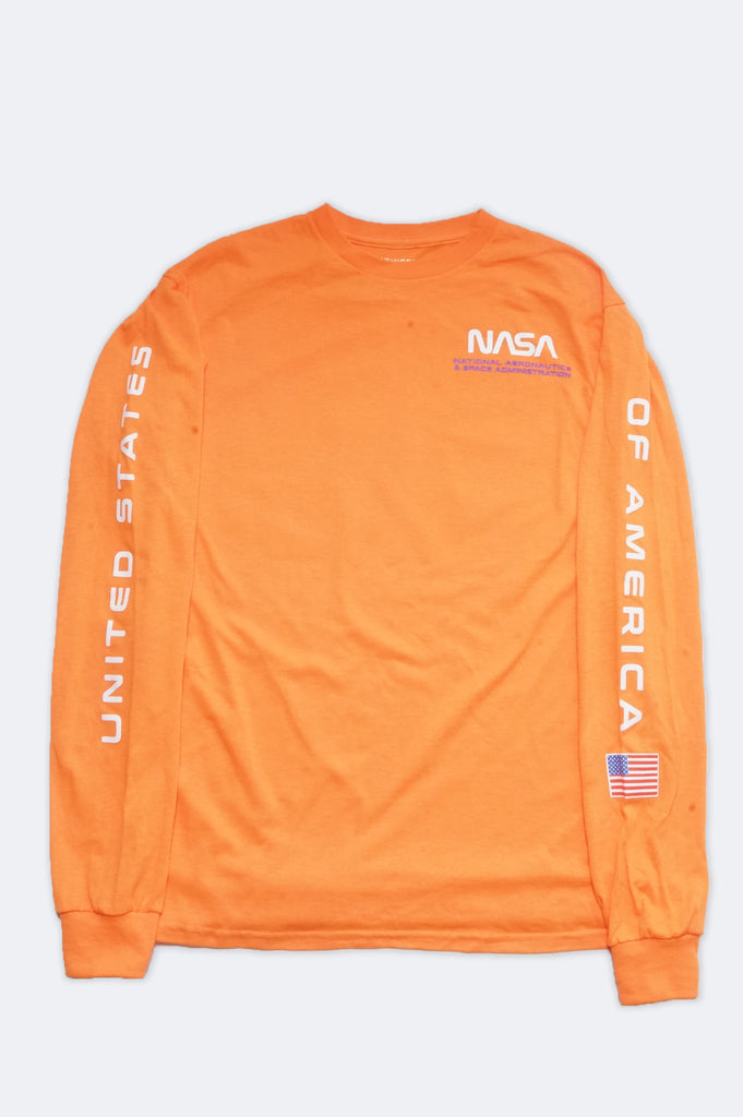 Aao Fashion Women Nasa Logo Long Sleeve Graphic Tee