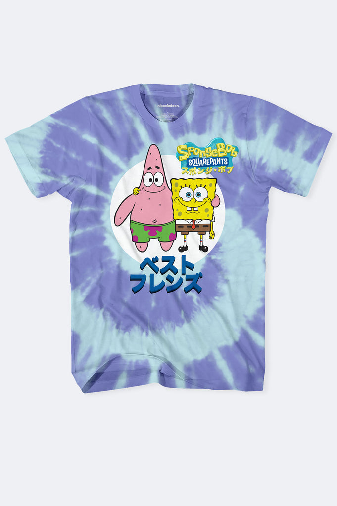 Aao Fashion Men Spongebob Tie Dye  Graphic Tee