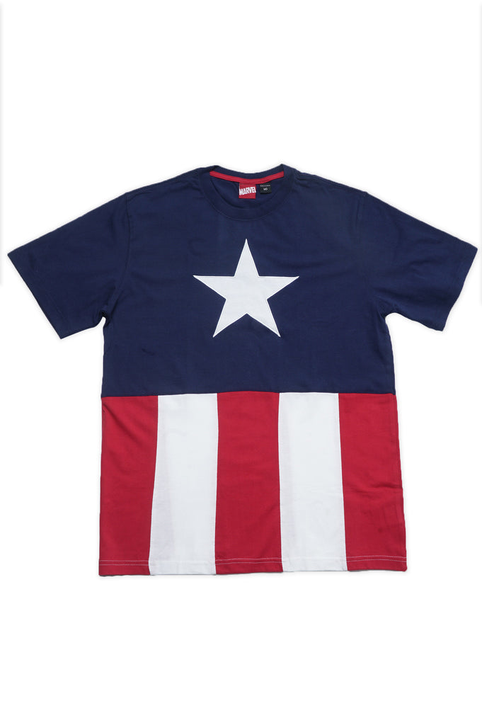 Aao Fashion Men Marvel Captain America Graphic Tee