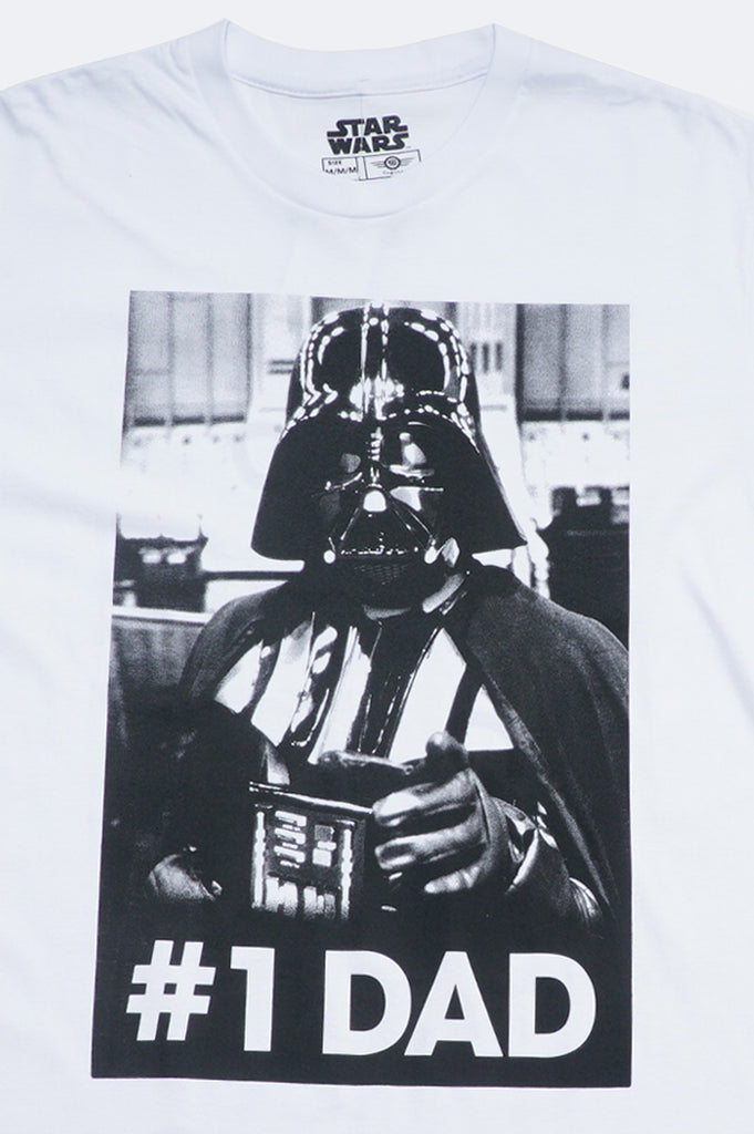 Aao Fashion Men Movie Starwars #1 Dad Vader Graphic Tee