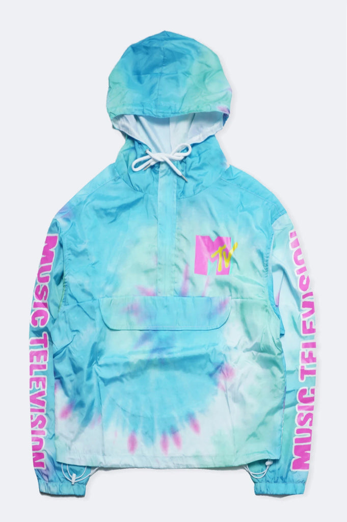 Aao Fashion Women Mtv Tie Dye Graphic Windbreaker Jacket