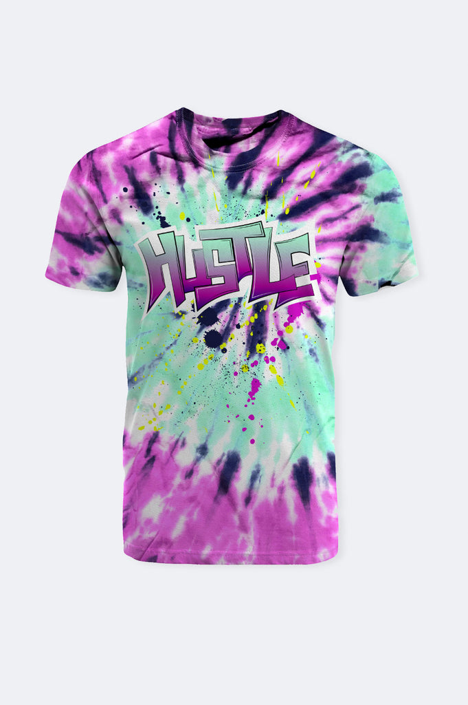 Aao Fashion Men Tie Dye Hustle Graphic Tee
