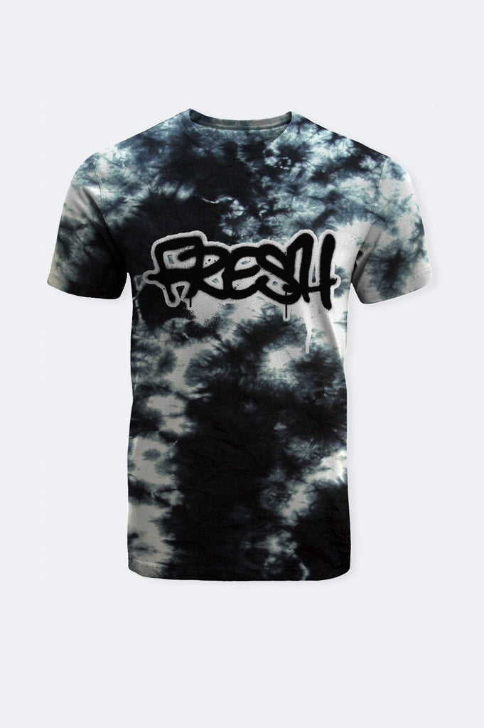 Aao Fashion Men Tie Dye Fresh Graphic Tee