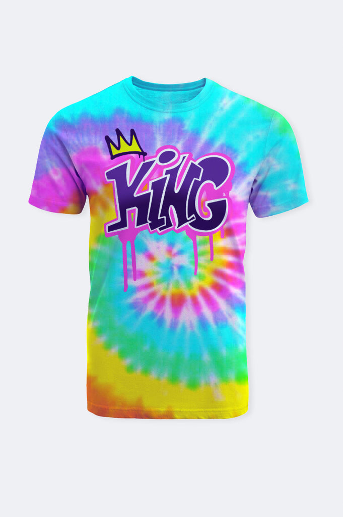 Aao Fashion Men Tie Dye King Graphic Tee