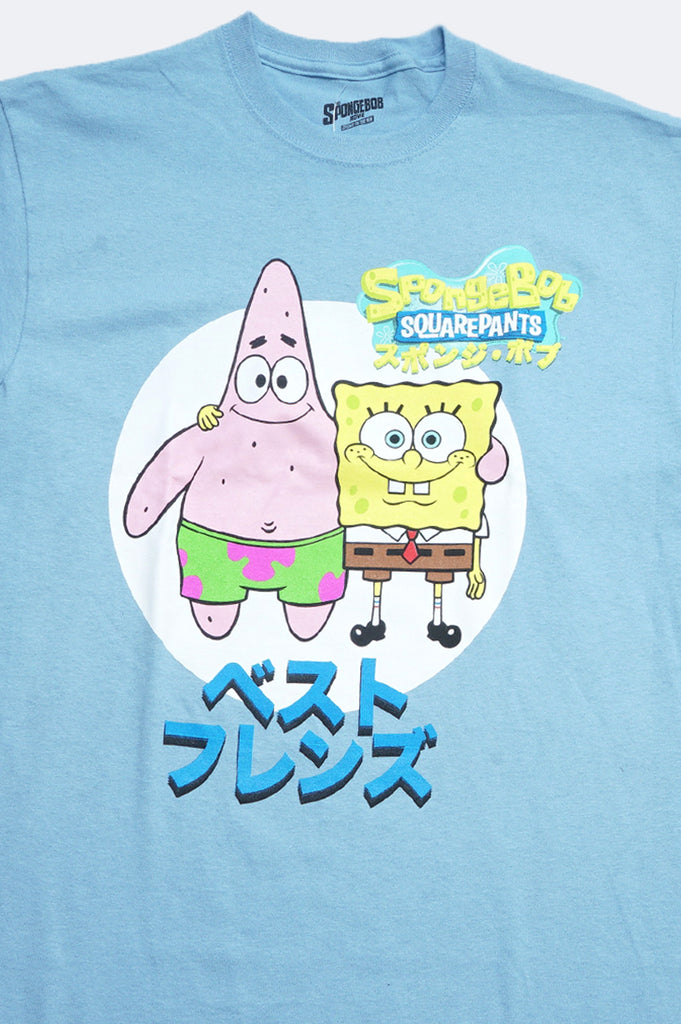 Aao Fashion Men Spongebob Best Friends Japanese Graphic Tee
