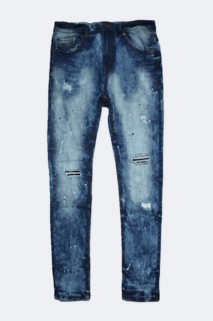 Aao Fashion Men Splash Ripped Denim