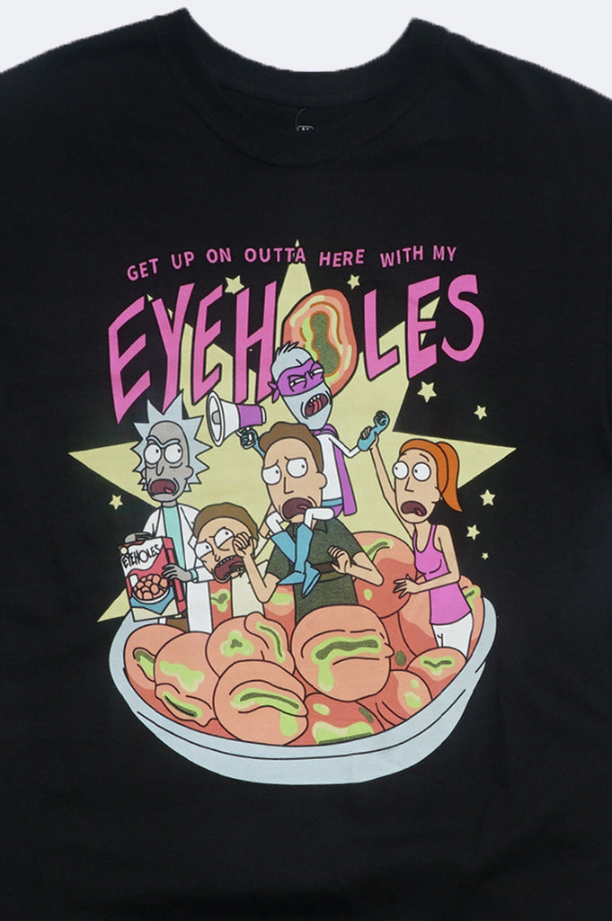 Aao Fashion Men Rick And Morty Eyeholes Graphic Tee