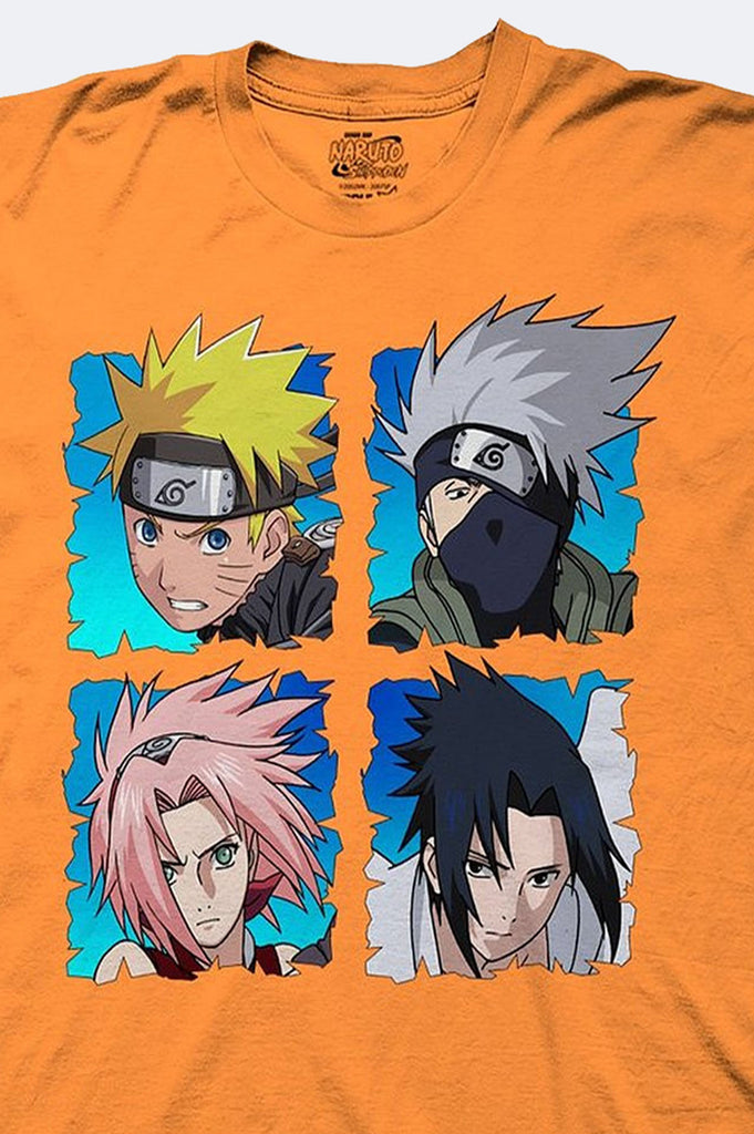 Aao Fashion Men Naruto Group Graphic Tee