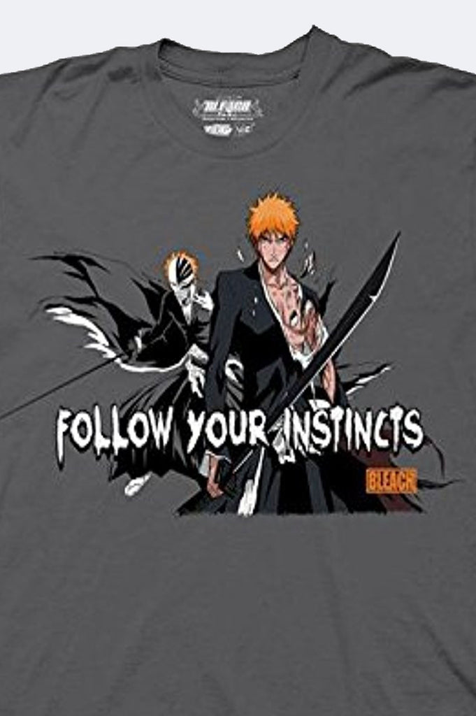 Aao Fashion Men Bleach Follow Your Instincts Graphic Tee