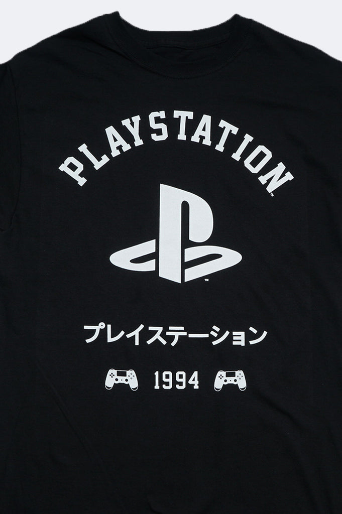 Aao Fashion Men Playstation Logo With Japanese Letter Graphic Tee