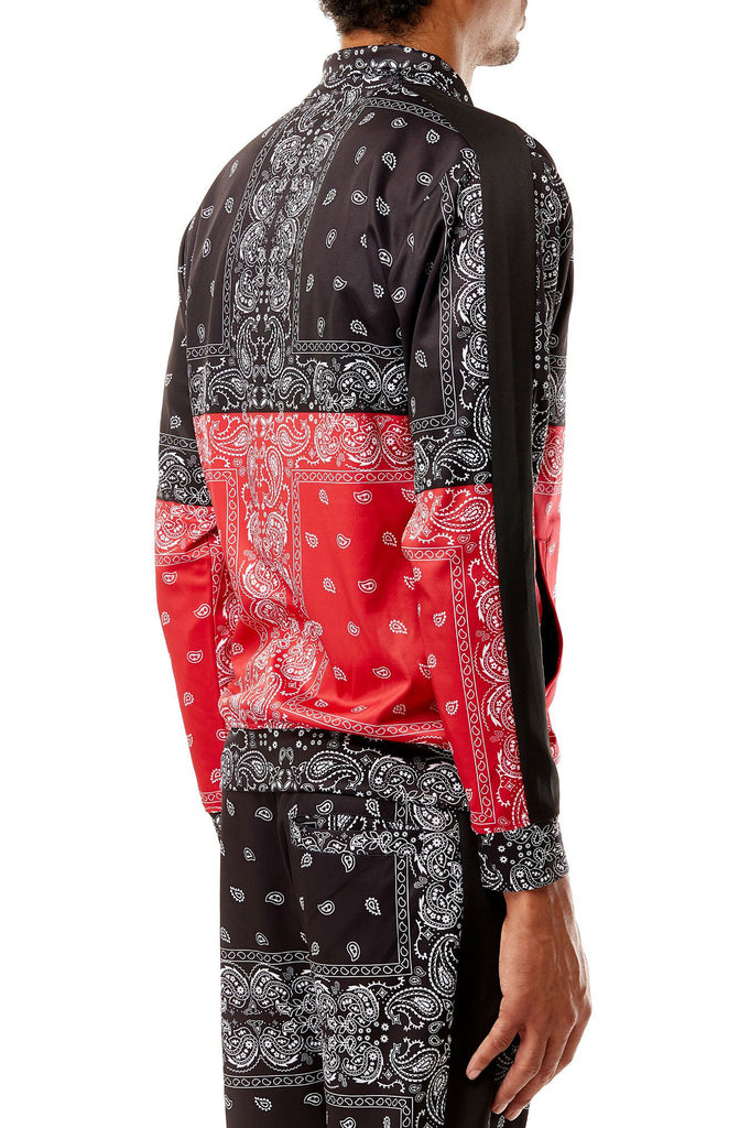 Aao Fashion Men All Over Paisley Pattern Track Jacket