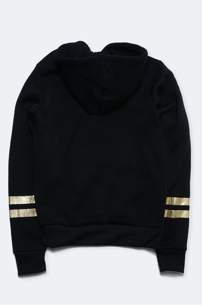Southpole Women Gold Print Nasa Logo Pullover Hoodie