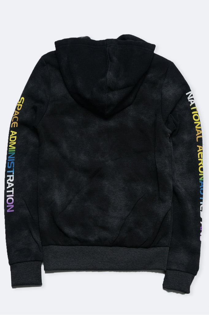 Southpole Women Nasa Tie Dye Fleece Pullover Hoodie