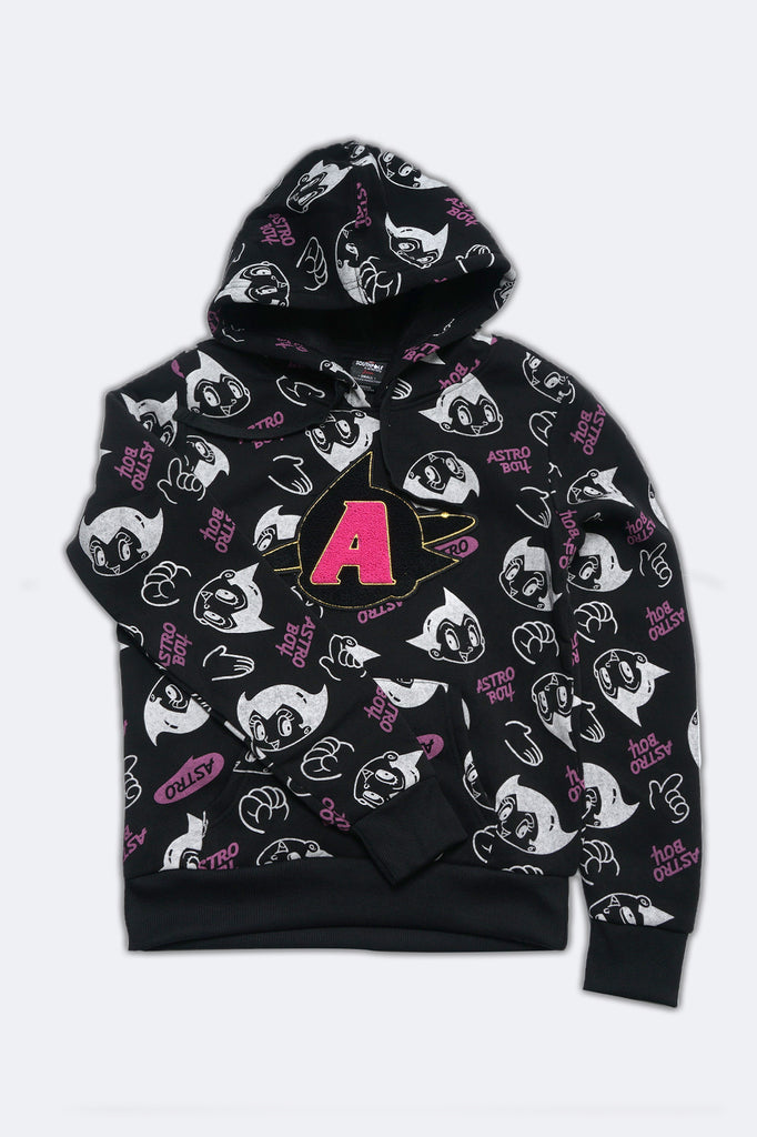 Southpole Women Astro Boy All Over Print Pullover Hoodie