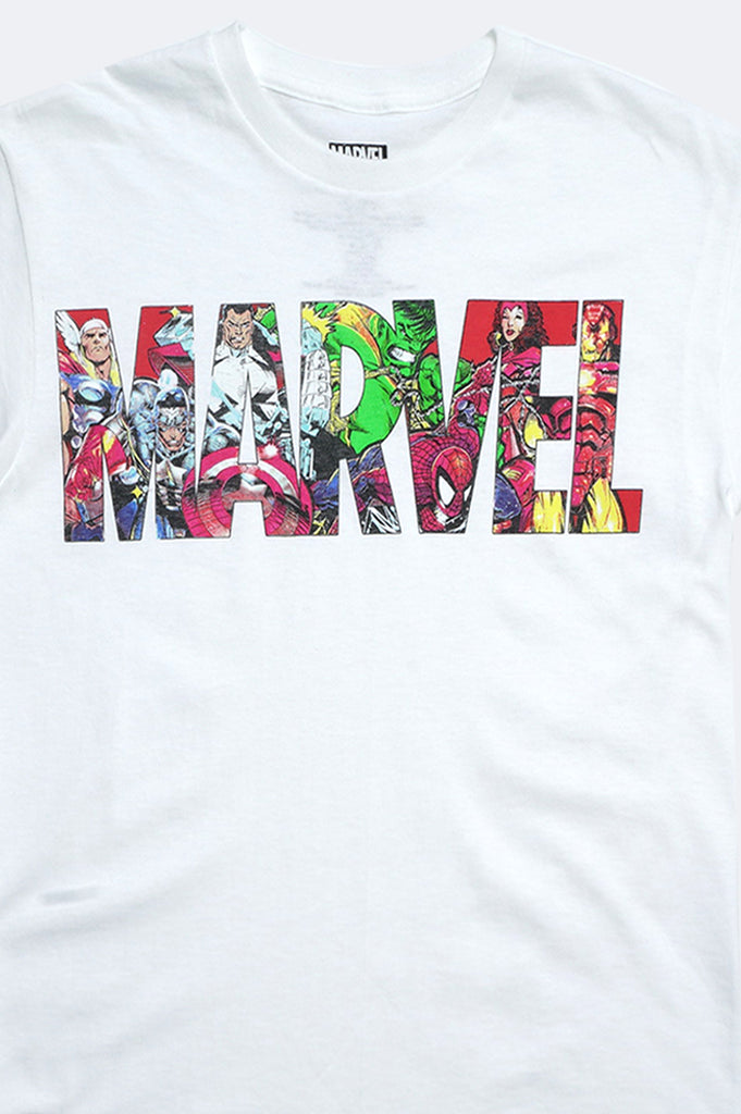 Aao Fashion Men Marvel Logo  Fill Graphic Tee
