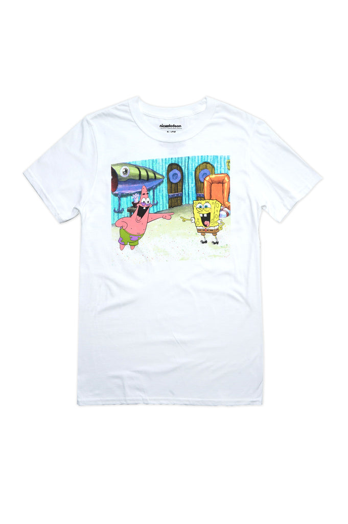 Aao Fashion Men Spongebob And Patrick Graphic Tee