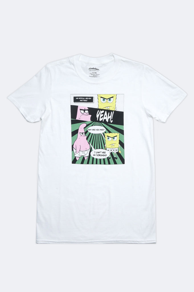 Aao Fashion Men Spongebob Mean Graphic Tee