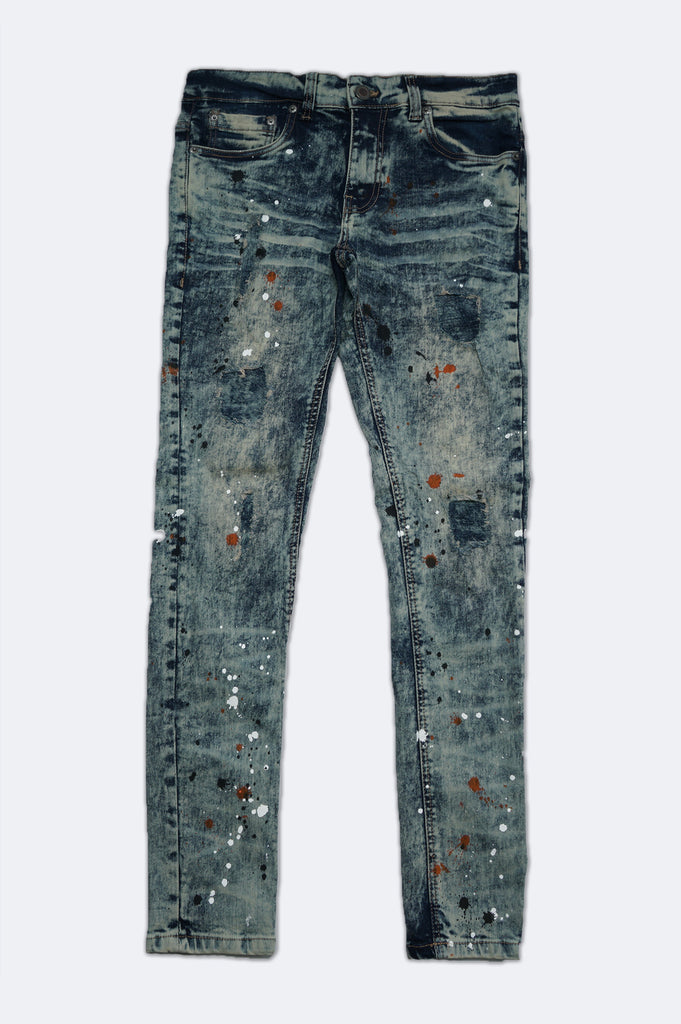 Aao Fashion Men Splash Premium Fashion Denim