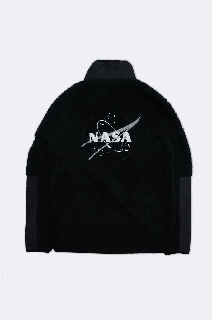 Aao Fashion Men Nasa Sherpa Zip-Up