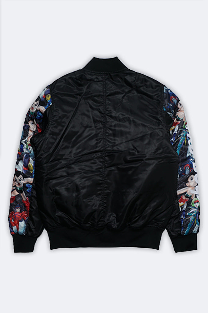 Southpole Men Astroboy Allover Print Bomber Jacket
