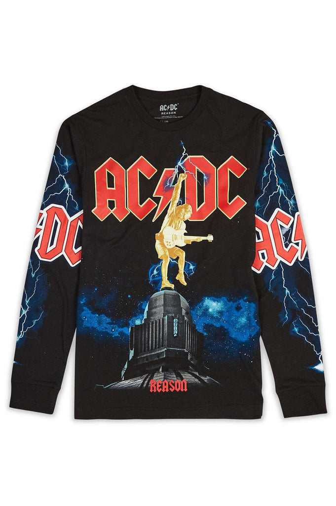 Reason Men Acdc Rock Or Bust Long Sleeve Tee