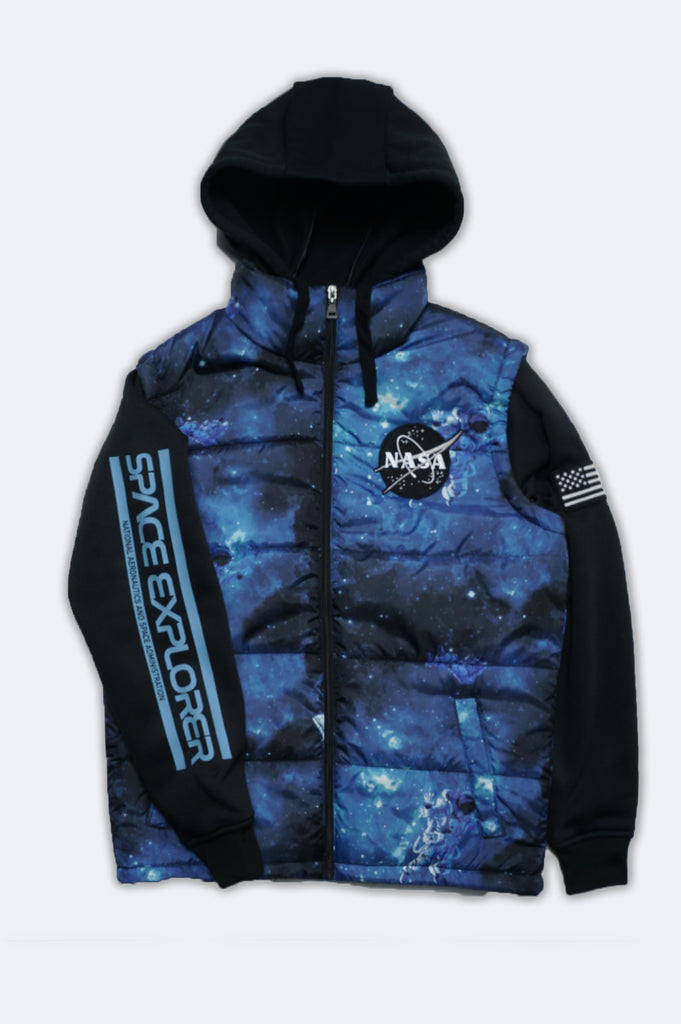 Aao Fashion Men Nasa Sublimation Twofer Jacket