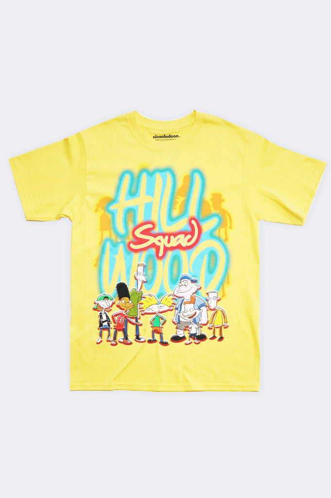 Aao Fashion Men Hey Arnold Hill Squad Pullover Graphic Tee