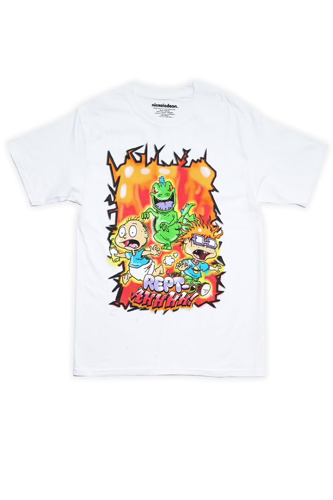 Aao Fashion Men Nickelodeon Rugrats Rept-Ahhh Graphic Tee