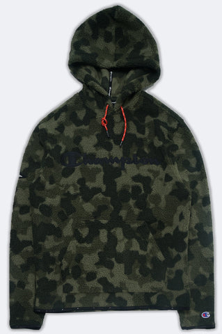 Champion Men Heritage Camo Sherpa Pullover Hoodie