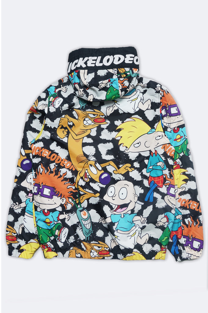 Members Only Women Nickelodeon Cartoon Mashup Windbreaker Jacket