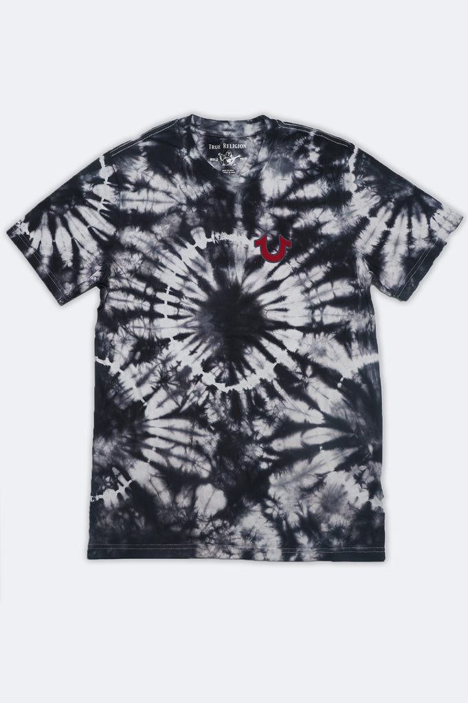 True Religion Men Tie Dye Buddha Tee