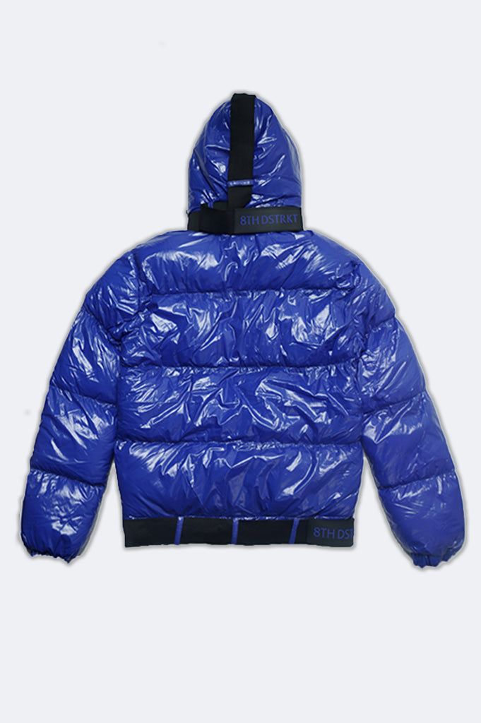 Aao Fashion Men Shiny Padding Bubble Jacket