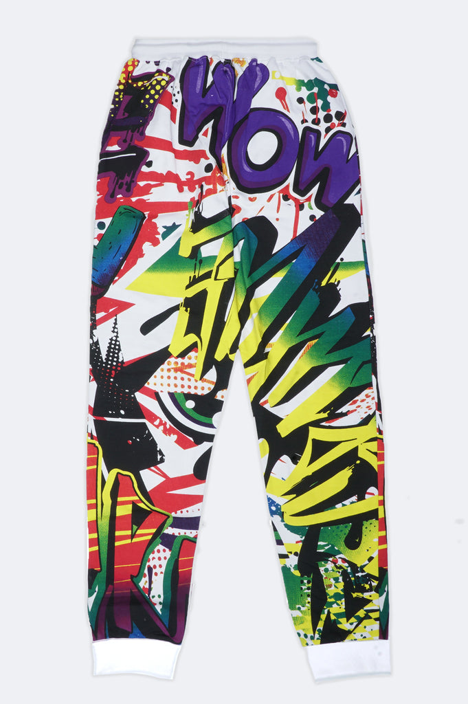 Aao Fashion Men Verbiage Graffiti Sweat Pants