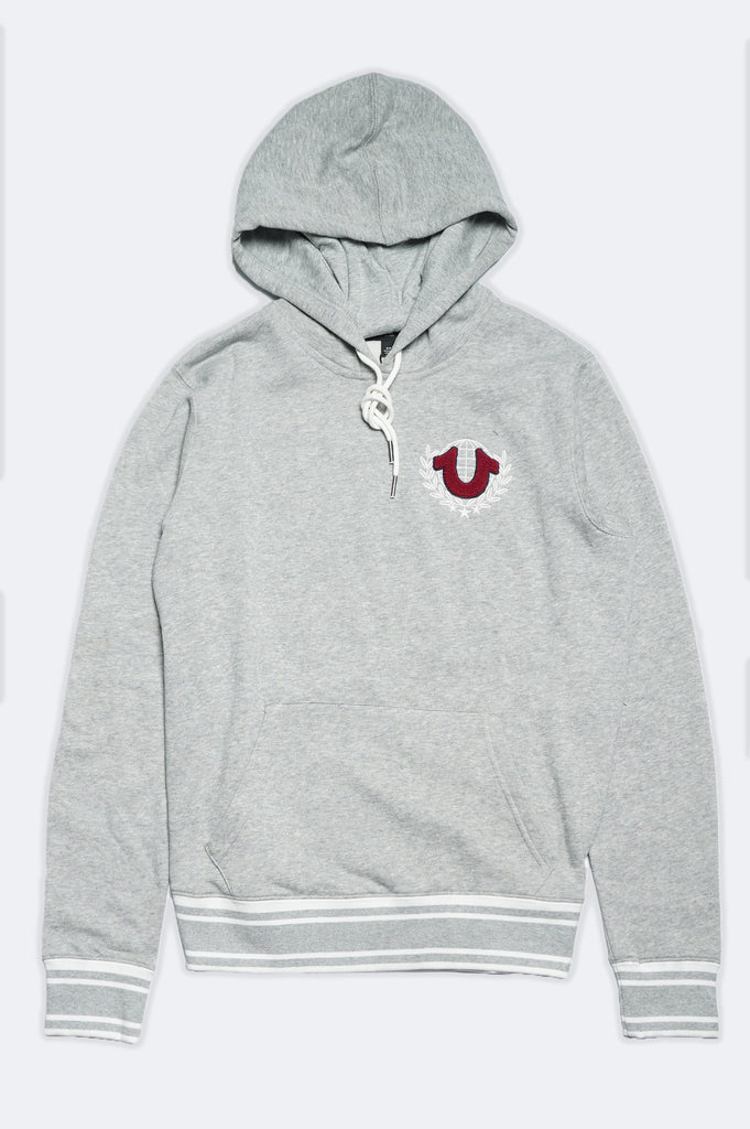 True Religion Men Chenille Patch Hoodie