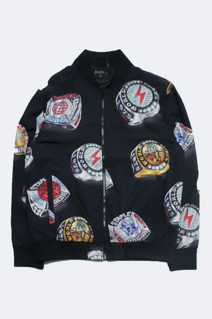 Aao Fashion Men Champion Rings Bomber Jacket