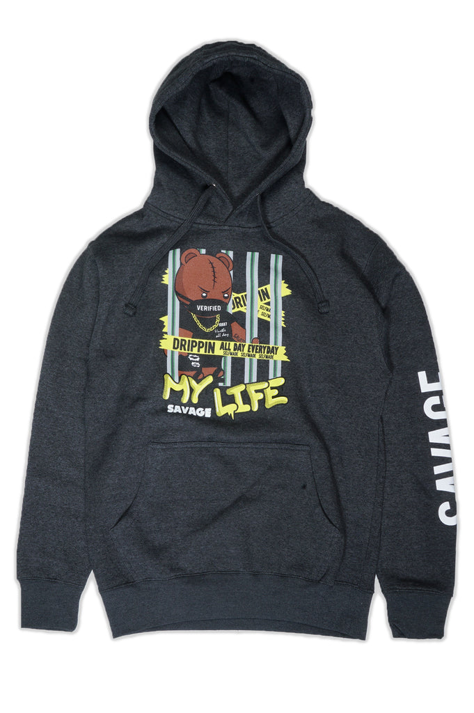 Aao Fashion Men My Savage Life Pullover Graphic Hoodie